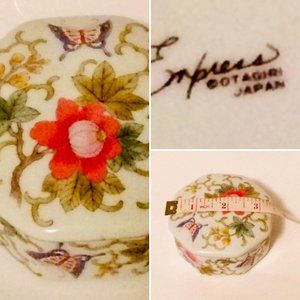 Otagiri Butterfly Floral Trinket Box Empress Porce